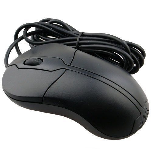 Dell Deluxe USB Optical 3 Button Scroll Mouse XN966, Black