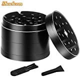 Shackcom Spice Herb Grinder, 2-inch with 4-Layer 3-Chamber Zinc Alloy, 16 Sharp Grinding