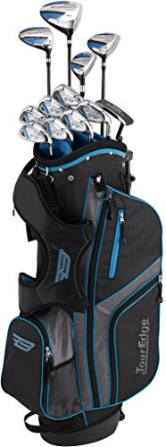Tour Edge Bazooka Men's 360 Box Set (Graphite), Right Hand, Black/Blue (Tour Edge Golf Club Set)