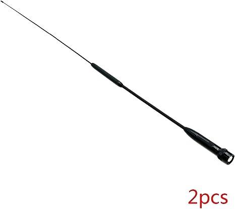 heacker Reemplazo RH902S Antena Conector BNC Doble Banda aérea de Radio de Dos vías walkie Talkie Parte