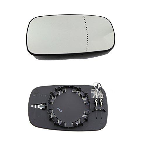DoctorAuto DR165619 Miroir Glace Verre de Rétroviseur Extérieur Chauffante Avec le Support en Plastique Gauche
