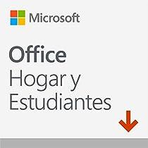 Solo 89.99 € - Microsoft Office Hogar y Estudiantes - Software para PC o Mac, 1 Usuario, Versión 2019 – Descargable
