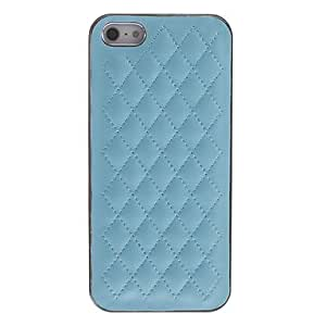 get Stylish Grid Pattern PU Hard Case for iPhone 5/5S (Assorted Colors) , Pink