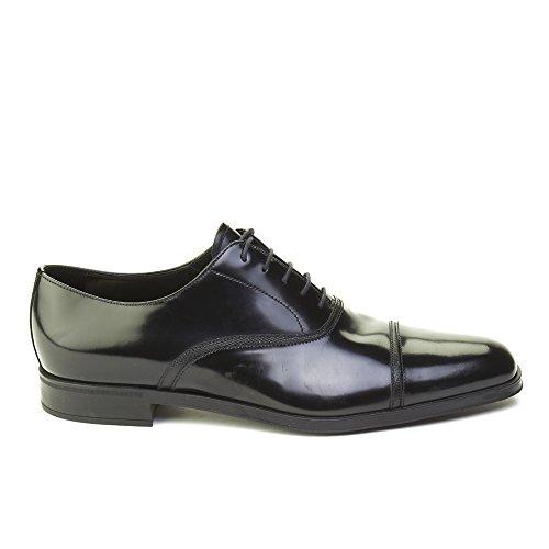 Prada Mens Leather Oxford Derby Dress Shoes Black GVr6YUfbd