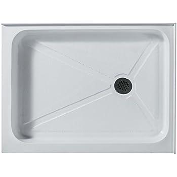 Awesome Rectangular Shower Base Right Drain, White