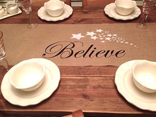 Believe Christmas Table Runner