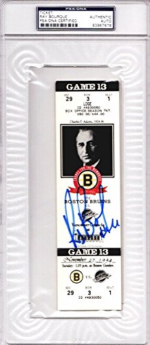 Framed Ticket Holder - Ray Bourque Autographed Boston Bruins Ticket from 11/27/94 The Final Season at The Boston Garden - PSA/DNA Authenticity (COA) - PSA Slabbed Holder