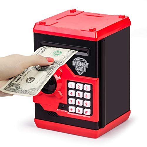 Good Halloween Ideas For 12 Year Olds (Refasy Children Toy for 5-7 Year Old Girls,Piggy Banks Toy for 8-16 Year Old Girls Boys Birthday Gifts Toy Gifts for Kids Coin ATM Electronic Piggy Banks Toys Great Christmas)