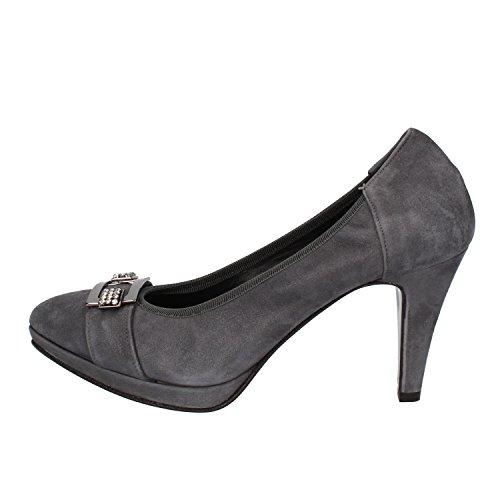 Calpierre - Zapatos de vestir de ante para mujer gris gris