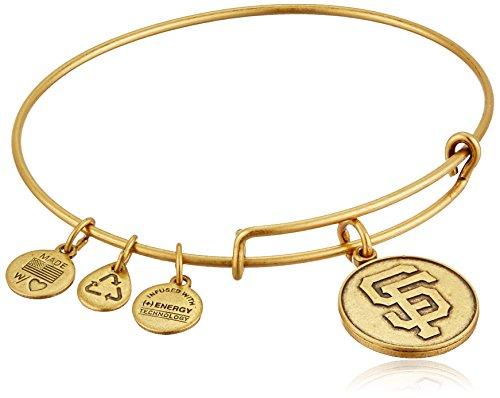 Alex and Ani San Francisco Giants Cap Logo Expandable Rafaelian Gold Bangle - Bracelet Gold Mlb