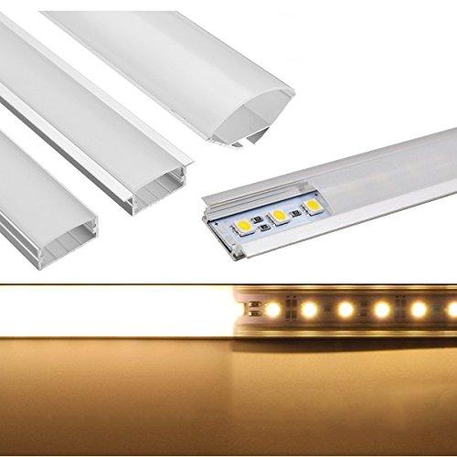 Lights   Lighting   50Cm U Yw V Shape Aluminum Channel Holder For Bar Under Cabinet Led Rigid Strip Light Lamp   Differ Aluminum Channel Extrion Profile Clips Strip Cover   Led   1Pcs