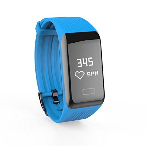 Seamount Y1 Fitness Heart Rate Monitor Smart Watch (Blue)