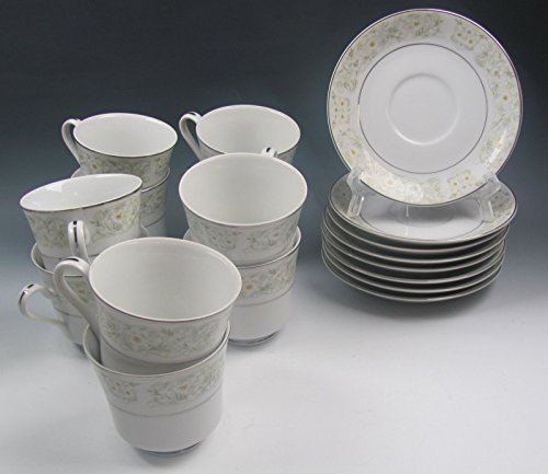 Lot of 8 Fine China of Japan CANDISE Cup and Saucer Sets + 2 Cups EXCELLENT