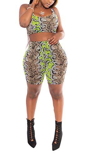 Women 2 Piece Dot Print Shirts Short Jogger Sweatpants Sport Tracksuits Outfits Set Green ()