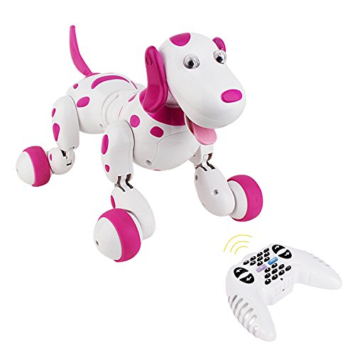 Electronic Smart Dog , ISTYLE 2.4G Wireless Remote Control Smart Dog Interactive Puppy , Electronic Pet Educational Children's Toy Dancing intelligent Robot Dog (Pink) (Robot Poppy compare prices)