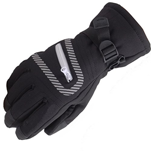 Deercon Parent-child Winter Warm Waterproof -30¡æ Snow Motorcycle Snowmobile Snowboard Ski Gloves(Black M)