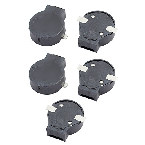 Aexit 5Pcs DC Security & Surveillance 2-4V 9032 9mm x 3.2mm SMD Electromagnetic Passive Horns & Sirens Buzzer Black by Aexit