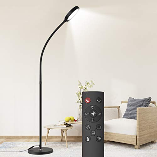 Dodocool Floor Lamp, Remote & Touch Control 2500K-6000K LED Floor Lamp for Bedroom and Floor Lamp for Living Room and 4…