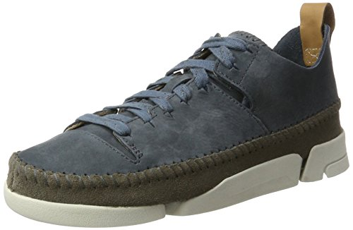 Clarks Originali Damen Trigenic Flex. Sneaker Blau (ardesia Nubuck)