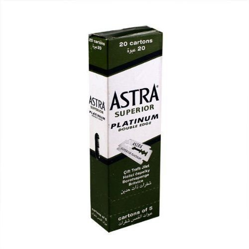 Astra 100 Superior Premium Platinum Double Edge Safety Razor Blades