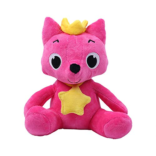 WFFO Cartoon Plush Toys Fox Sharks Soft Dolls Children Baby Animal Kid Toys (red)