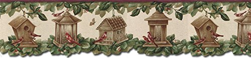 Birds House Wallpaper Border B30039 ()