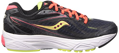 Saucony Ride 8 - Zapatillas de Running para Asfalto Mujer Negro (Black (Midnight/Coral/Citron)Midnight/Coral/Citron)