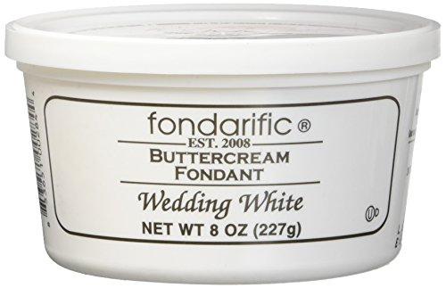 Fondarific Wedding White Fondant, Buttercream, 8 Ounce