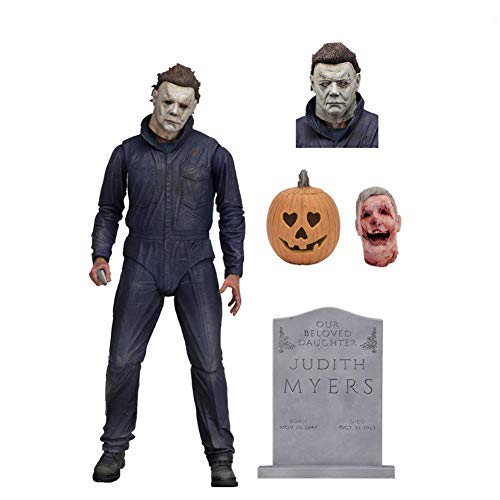 (PLAYER-C Tronzo Halloween Michael Myers Movable PVC Action Figure Toys Horror Escape Game Michael Myers Collectible Model Toys)