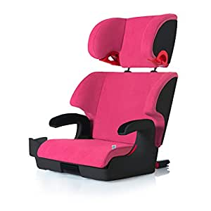 clek oobr high back booster car seat with recline and rigid latch flamingo child. Black Bedroom Furniture Sets. Home Design Ideas