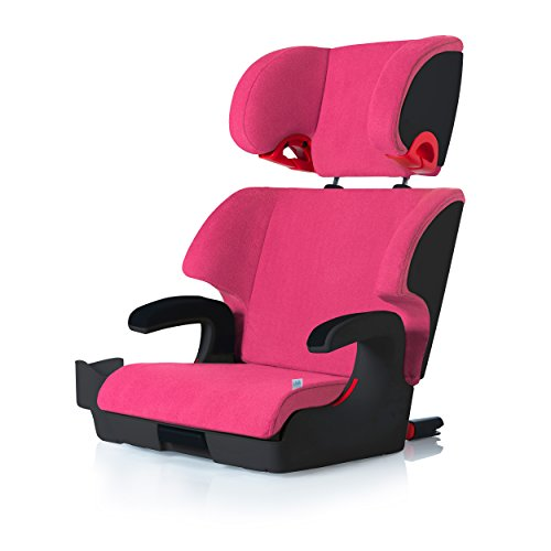Clek Oobr High Back Booster Car Seat with Recline and Rigid Latch, Flamingo