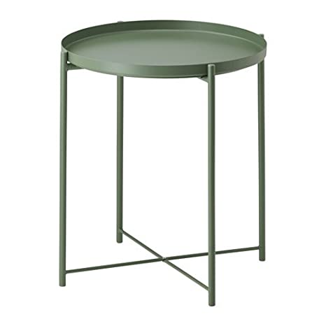 IKEA Steel Tray Table Dark Green 42811220302