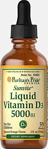 Puritan's Pride Liquid Vitamin D3 5000 IU-2 oz Liquid (Vitamin D3 5000 Iu Liquid)