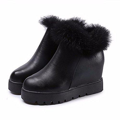 5 cn35 Talon 5 us5 Femmes black Neige Casual Bout Black uk3 Rond Bottes Pour Chaussures eu36 D'hiver Zhudj YTaCO