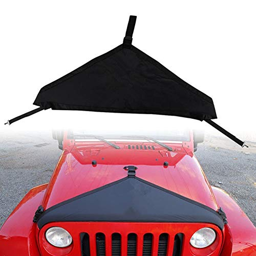 Yunhigh Front Hood Cover Bra Protector Cover T-Style Protector Kit for Jeep Wrangler TJ JK 1997-2006