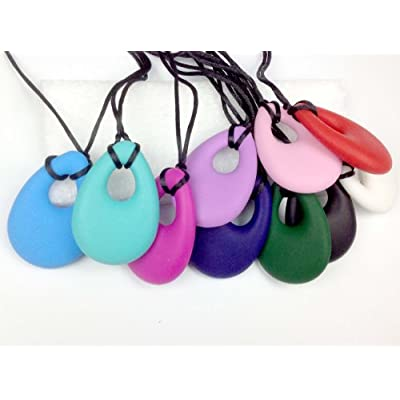 chubuddy, Chewable Oval Pendant Chewie, Non-Toxic Material - Fuschia: Health & Personal Care