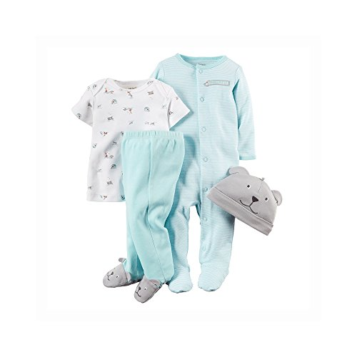 Carter's Baby Boys' 4 Piece Layette Set (Baby) - Dog - 6M