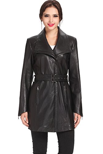 Lambskin Leather Trench - 2