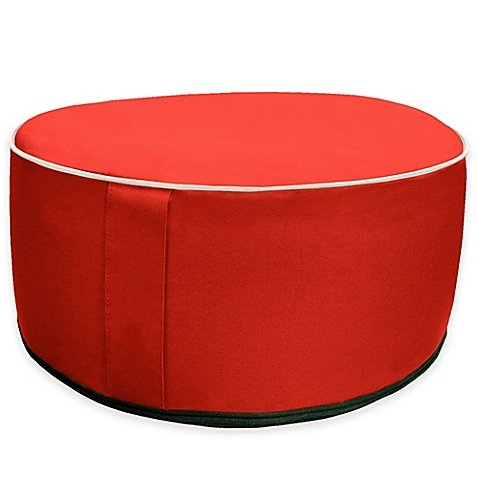 Splash 'n Dash Inflatable Pouf Ottoman in Red