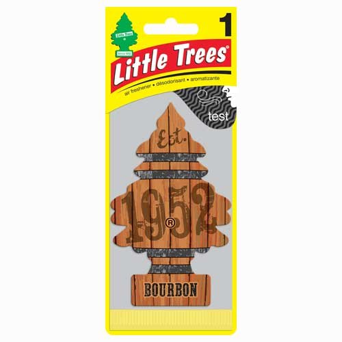 Little Trees Air Fresheners, Bourbon (Pack of 24)