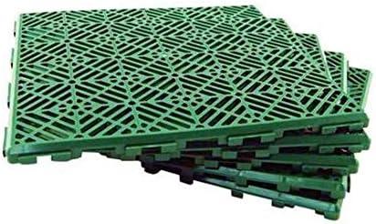 Baldosas Verde ML Suelo Flotante plastico para jard/ín Exterior Deportes Baloncesto Piscina 30 x 30 cm 12 Piezas Suelo plastico Rejilla