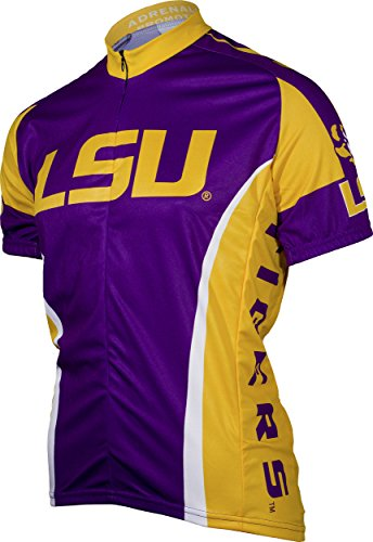 Adrenaline Bicycle - NCAA LSU Adrenaline Promotions Cycling Jersey, X-Large(purple/yellow)