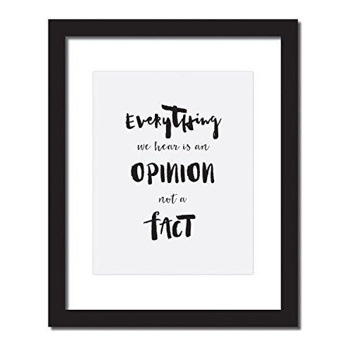 Cute desk accessories,Everything We Hear Is an Opinion Not a Fact, Marcus Aurelius Inspirational Quote Print . UNFRAMED.