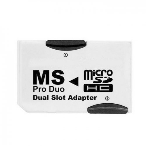 Chenyang Dual Slot MicroSD TF To MS Memory Stick Pro Duo Adapter Sony PSP & Mobile Phone
