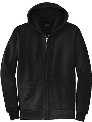 Joe's USA Full Zipper Hoodies - Hooded Sweatshirts Size 2XL, Black ()