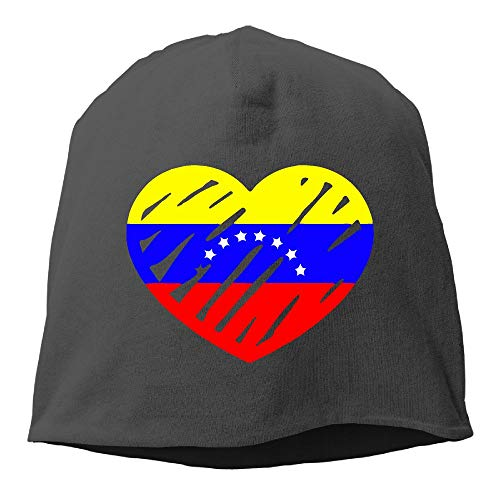 Venezuela Heart Flag Love - Love Venezuela Flag Heart Winter Beanie Skull Cap Warm Knit Ski Slouchy Hat Durable