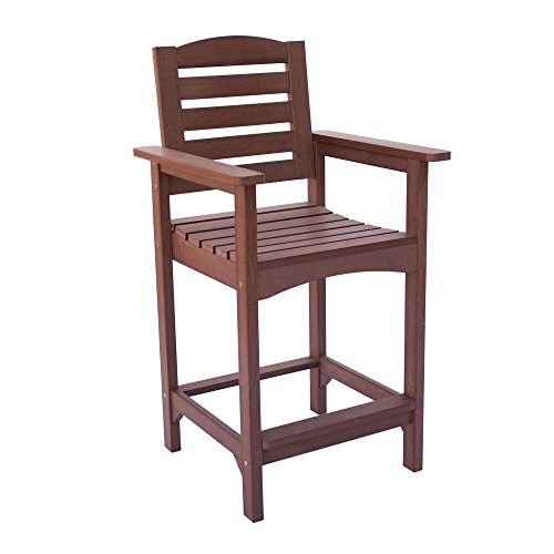 Shine Company 7673CB Sunrise Counter High Chair, Chateau Brown ()