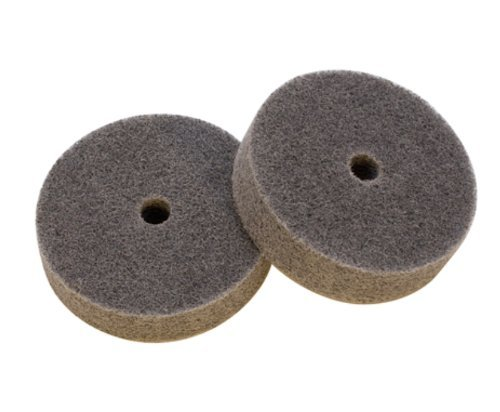 Medium Abrasive Buffing Wheels (pack of two) for EuroTool Bench Top Polisher Model POL-260.00 by EuroTool