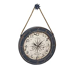 Deco 79 55579 Metal Wood Wall Clock, 24x37