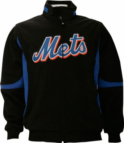 New York Mets MLB Majestic Black Therma Base Premier Jacket